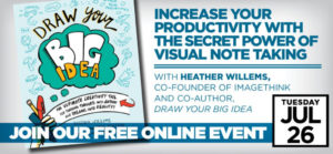 Free Tele-Class: Increase Your Productivity with the Secret Power of Visual Note Taking