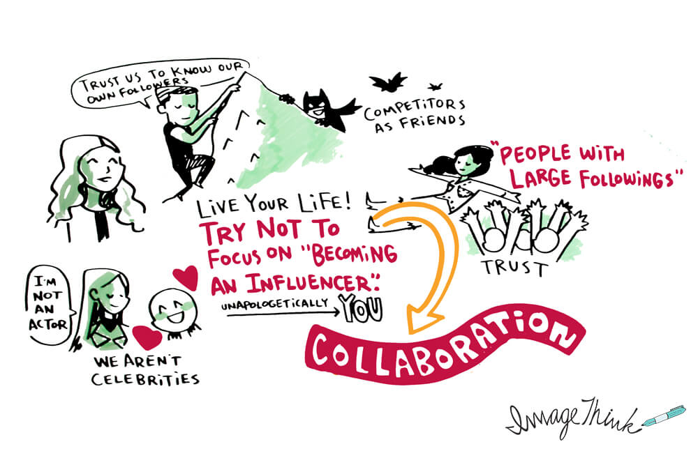 Influencers graphic recording